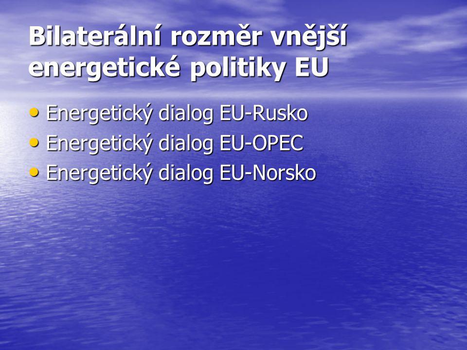 Bilaterální rozměr vnější energetické politiky EU