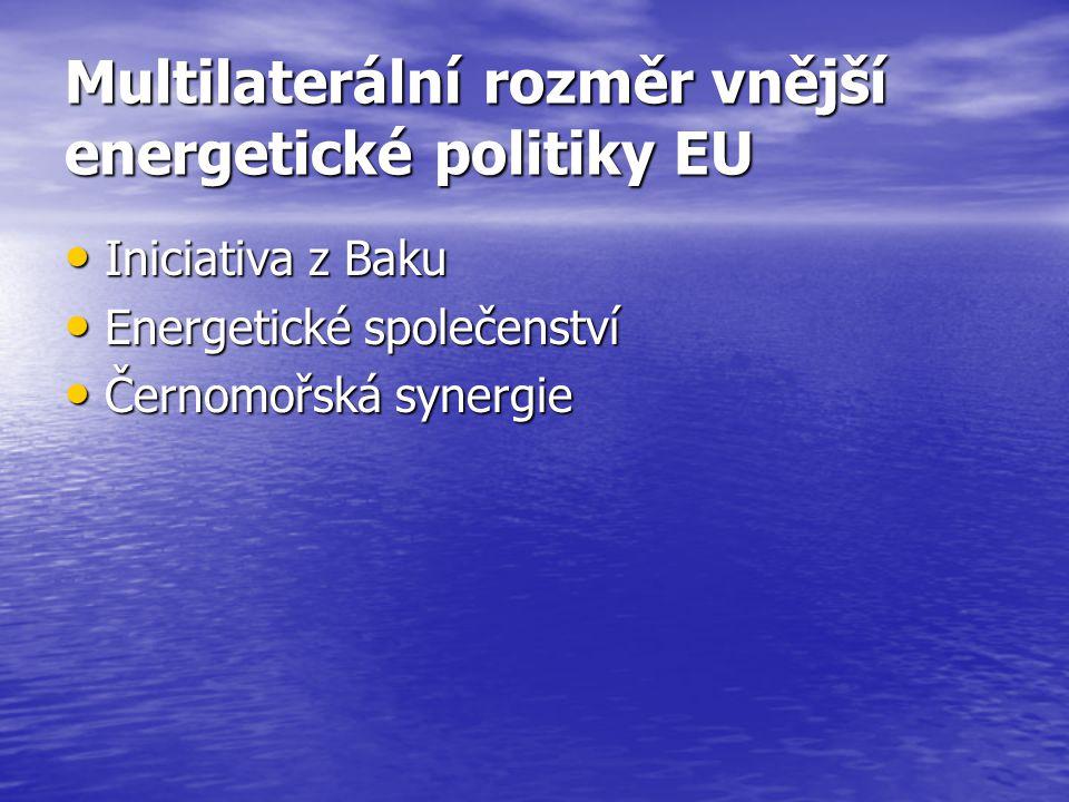 Multilaterální rozměr vnější energetické politiky EU