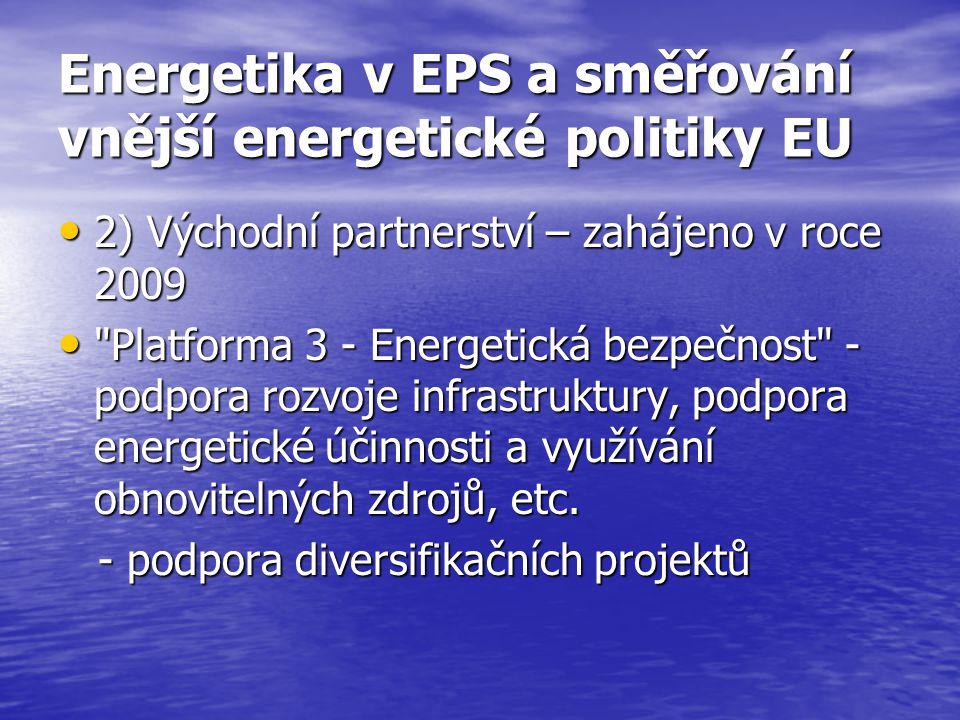 Energetika v EPS a směřování vnější energetické politiky EU