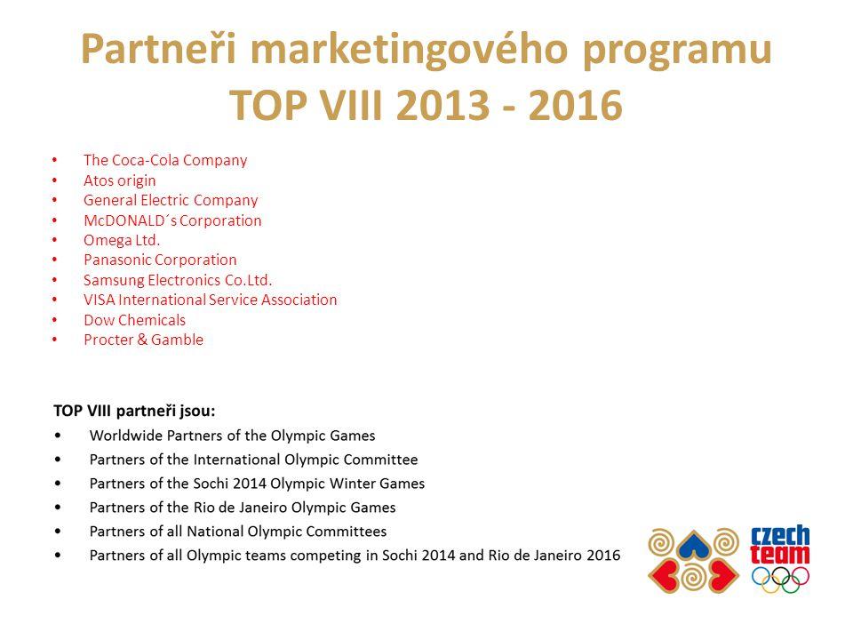 Partneři marketingového programu TOP VIII 2013 - 2016