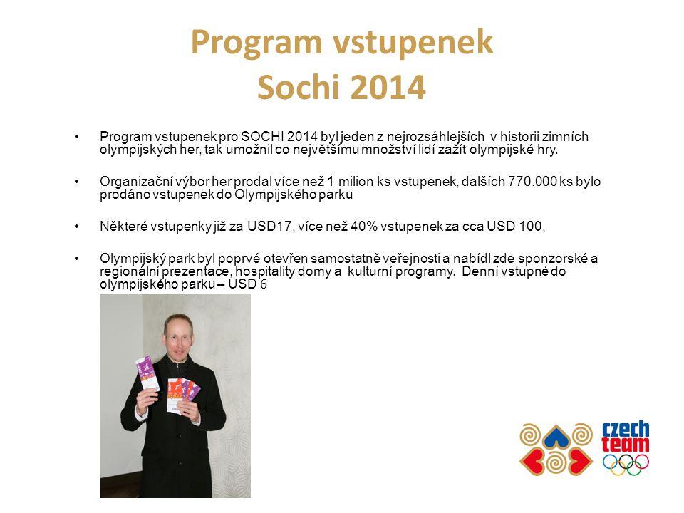 Program vstupenek Sochi 2014