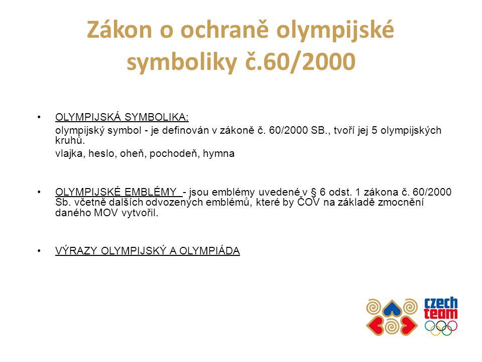Zákon o ochraně olympijské symboliky č.60/2000