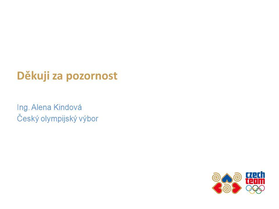 Děkuji za pozornost Ing. Alena Kindová Český olympijský výbor