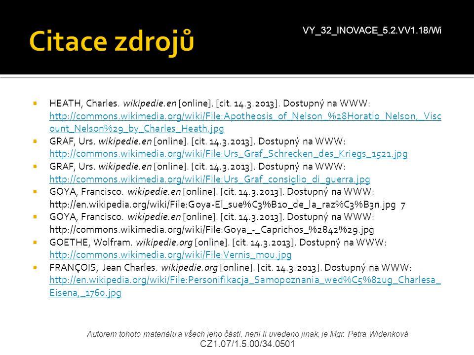Citace zdrojů VY_32_INOVACE_5.2.VV1.18/Wi.