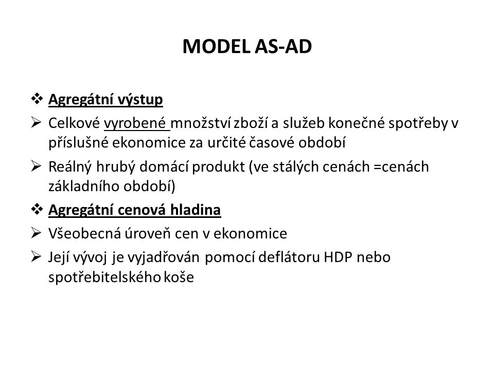 MODEL AS-AD Agregátní výstup