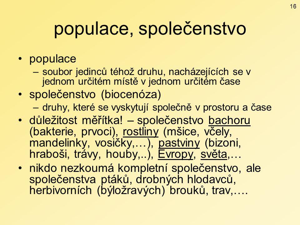 populace, společenstvo