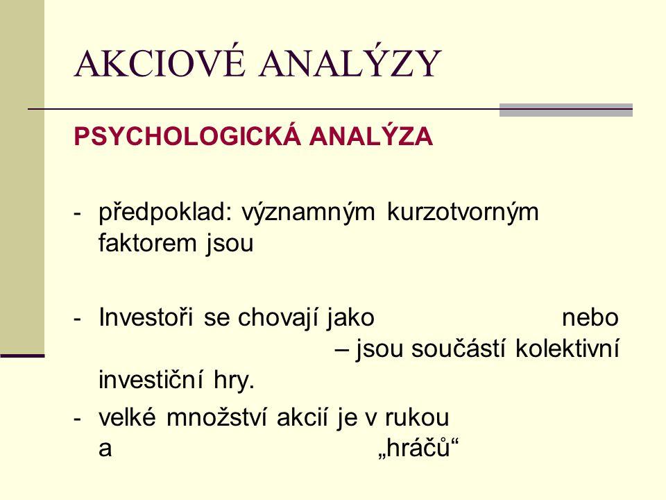 AKCIOVÉ ANALÝZY PSYCHOLOGICKÁ ANALÝZA