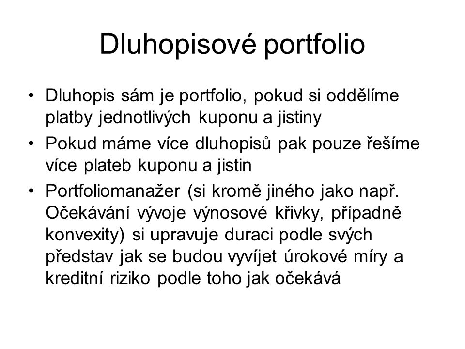Dluhopisové portfolio