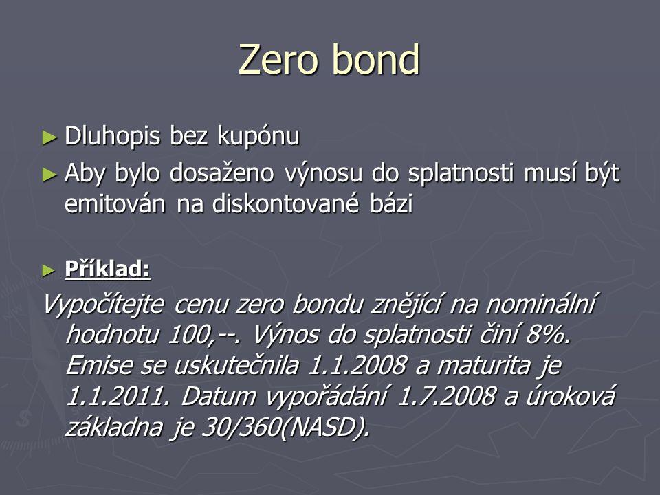 Zero bond Dluhopis bez kupónu