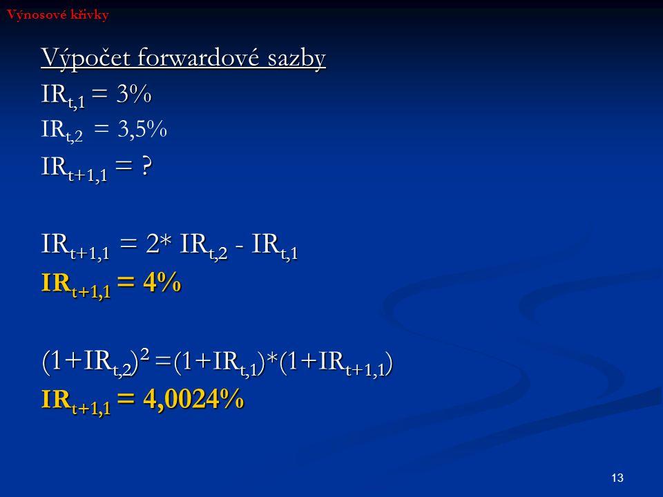 (1+IRt,2)2 =(1+IRt,1)*(1+IRt+1,1)