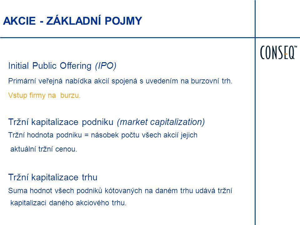 AKCIE - ZÁKLADNÍ POJMY Initial Public Offering (IPO)