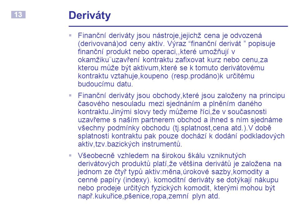 Deriváty