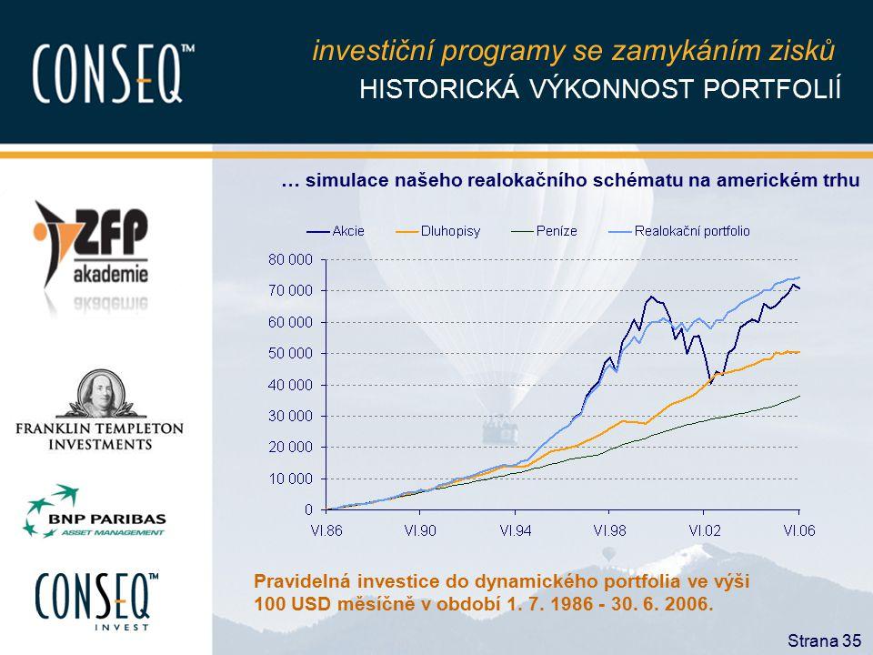 investiční programy se zamykáním zisků