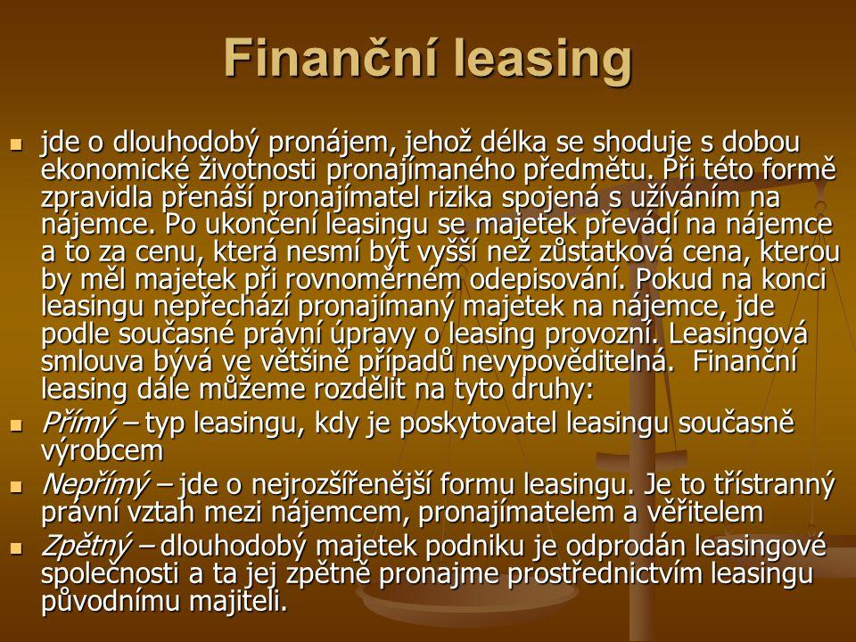 Finanční leasing