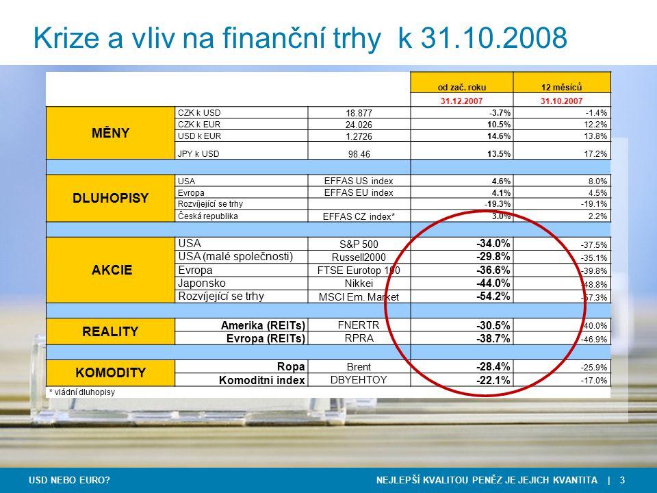 Krize a vliv na finanční trhy k 31.10.2008