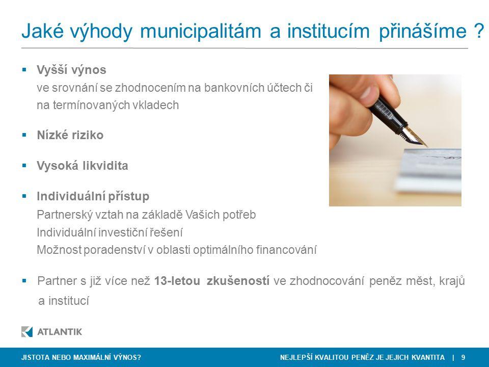 Jaké výhody municipalitám a institucím přinášíme