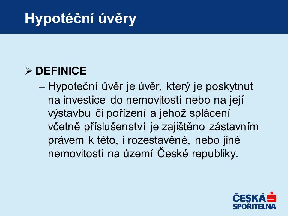 Hypotéční úvěry DEFINICE