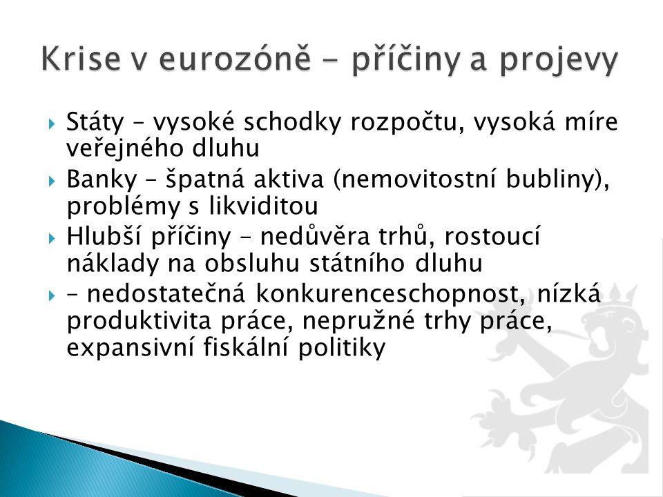 Krise v eurozóně - příčiny a projevy
