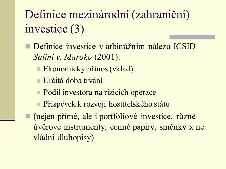Definice mezinárodní (zahraniční) investice (3)