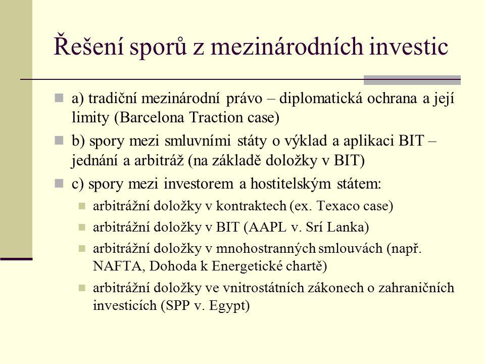 Řešení sporů z mezinárodních investic