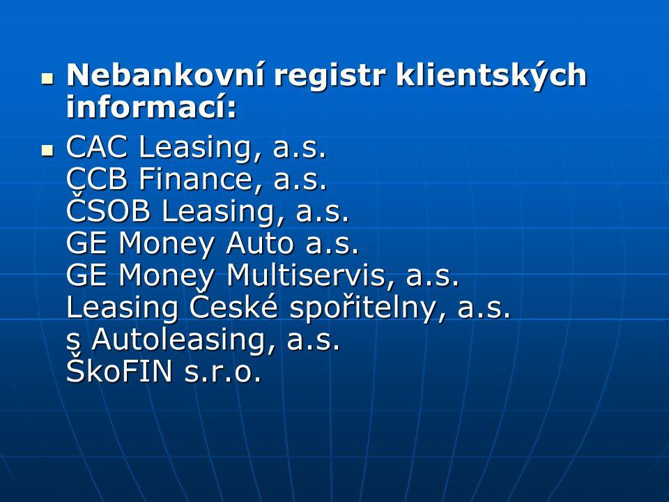 Nebankovní registr klientských informací: