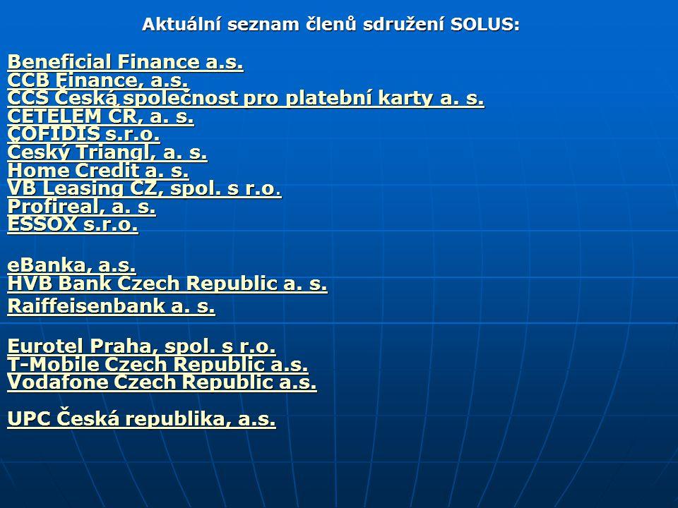 Aktuální seznam členů sdružení SOLUS: