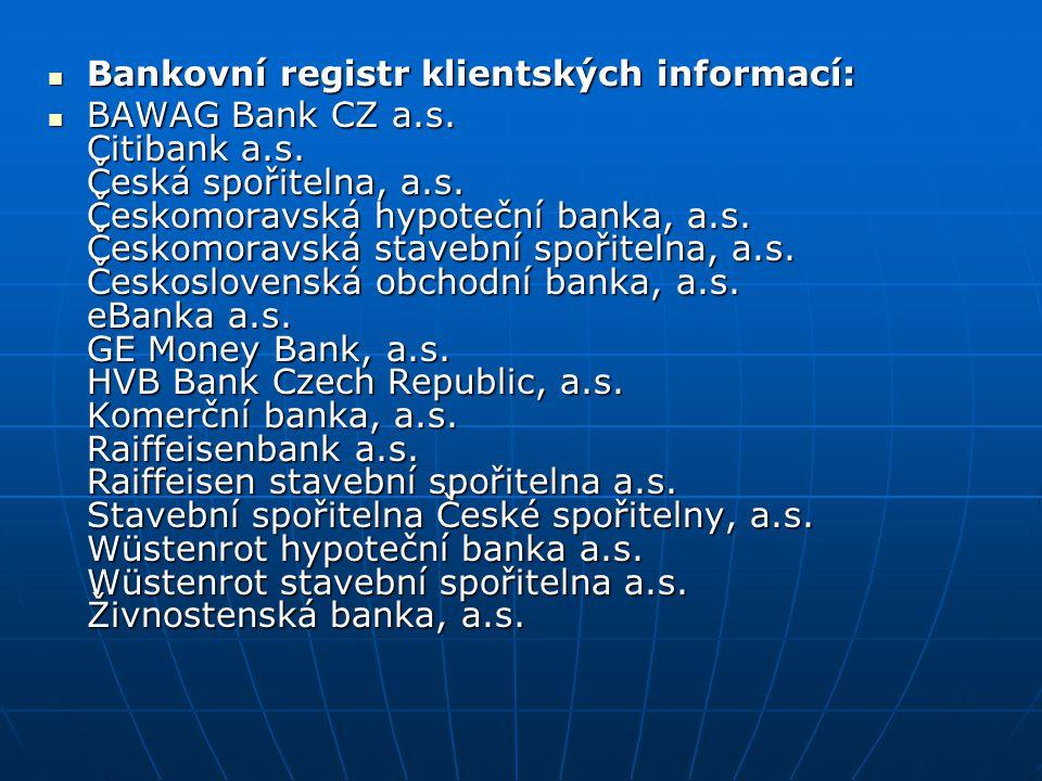 Bankovní registr klientských informací: