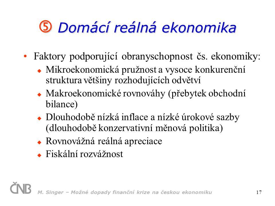  Domácí reálná ekonomika