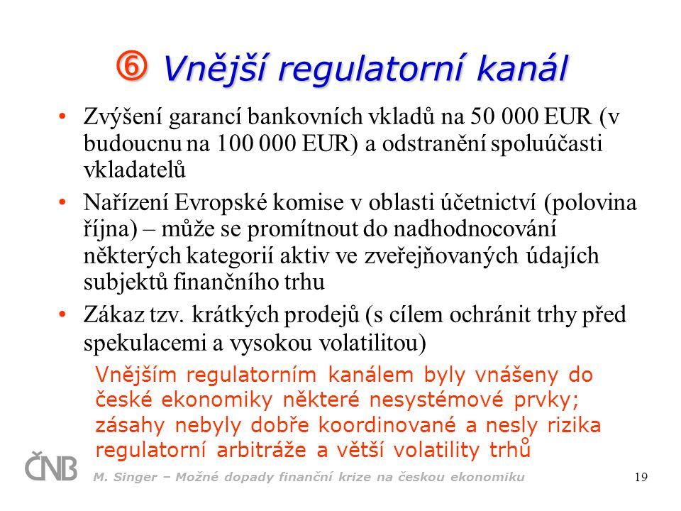  Vnější regulatorní kanál