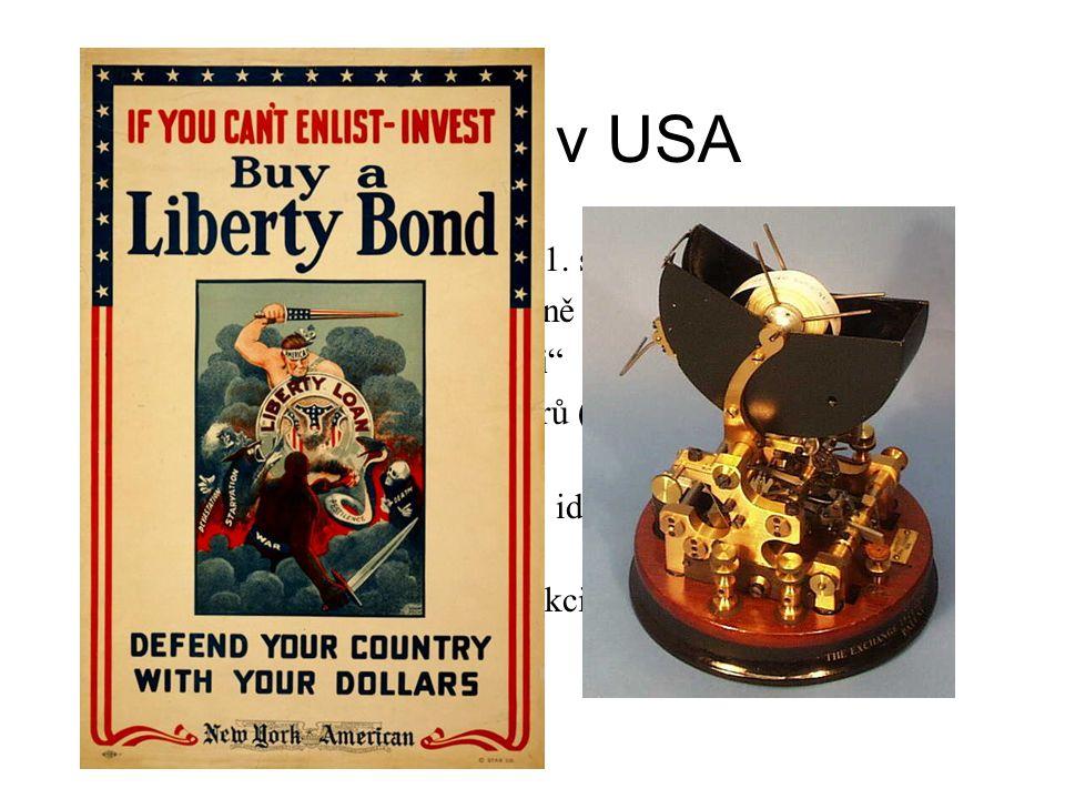 20. léta v USA USA ekonomickým vítězem 1. světové války