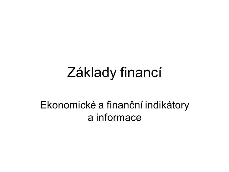 Ekonomické a finanční indikátory a informace