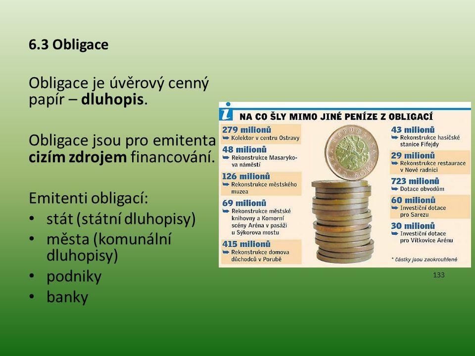 Obligace je úvěrový cenný papír – dluhopis.