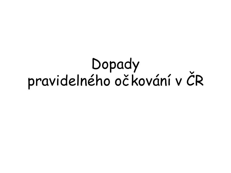 Dopady pravidelného očkování v ČR