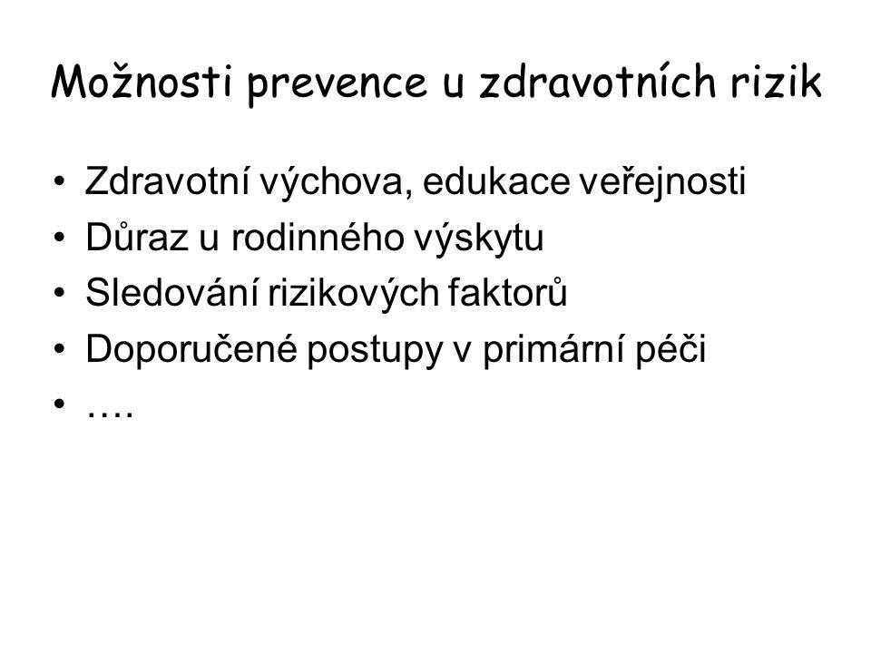 Možnosti prevence u zdravotních rizik