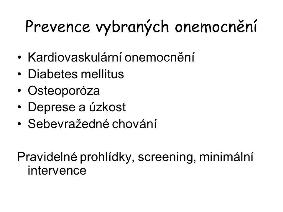 Prevence vybraných onemocnění