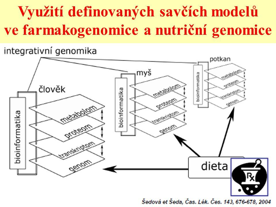 Využití definovaných savčích modelů