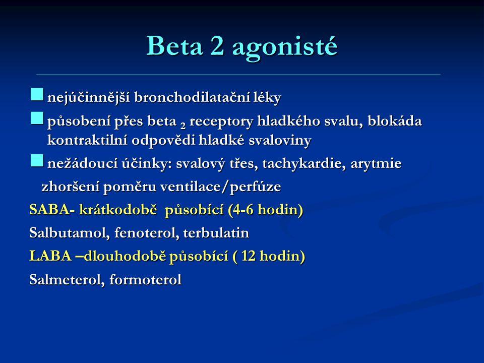 Beta 2 agonisté nejúčinnější bronchodilatační léky