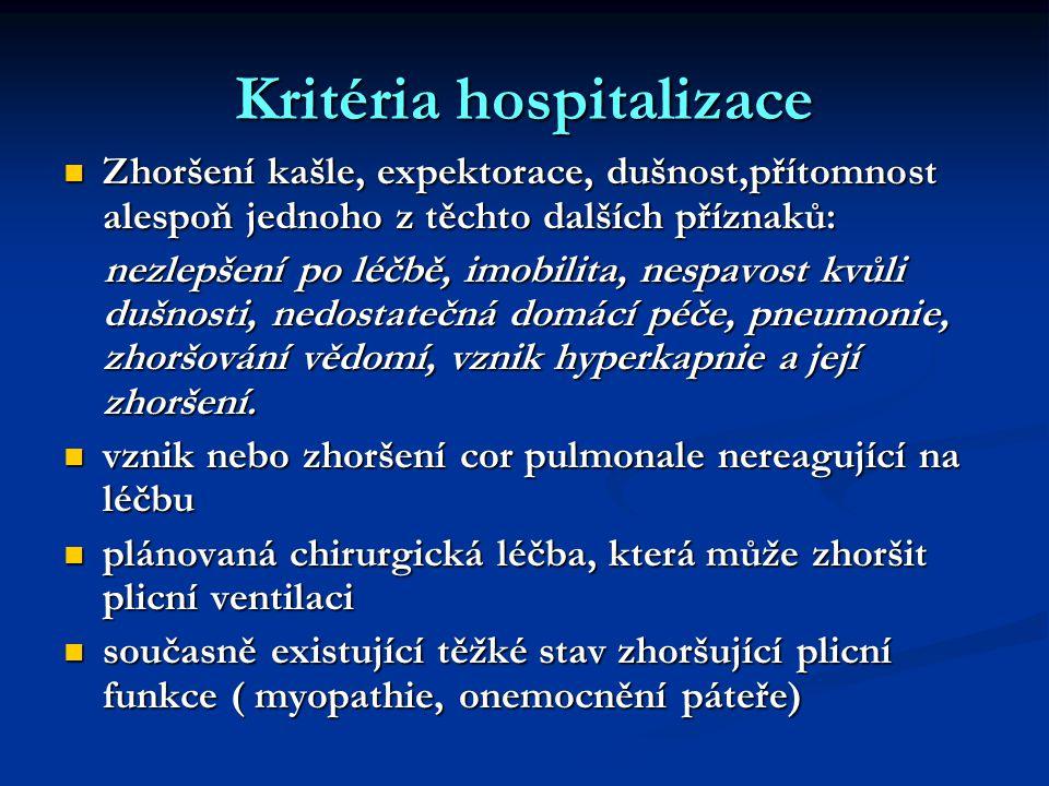 Kritéria hospitalizace
