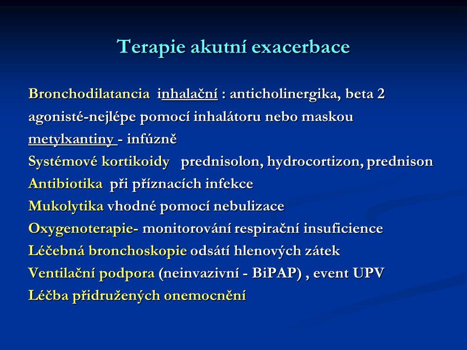 Terapie akutní exacerbace