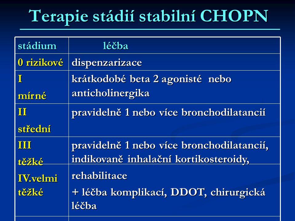 Terapie stádií stabilní CHOPN