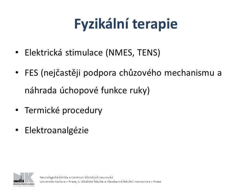 Fyzikální terapie Elektrická stimulace (NMES, TENS)