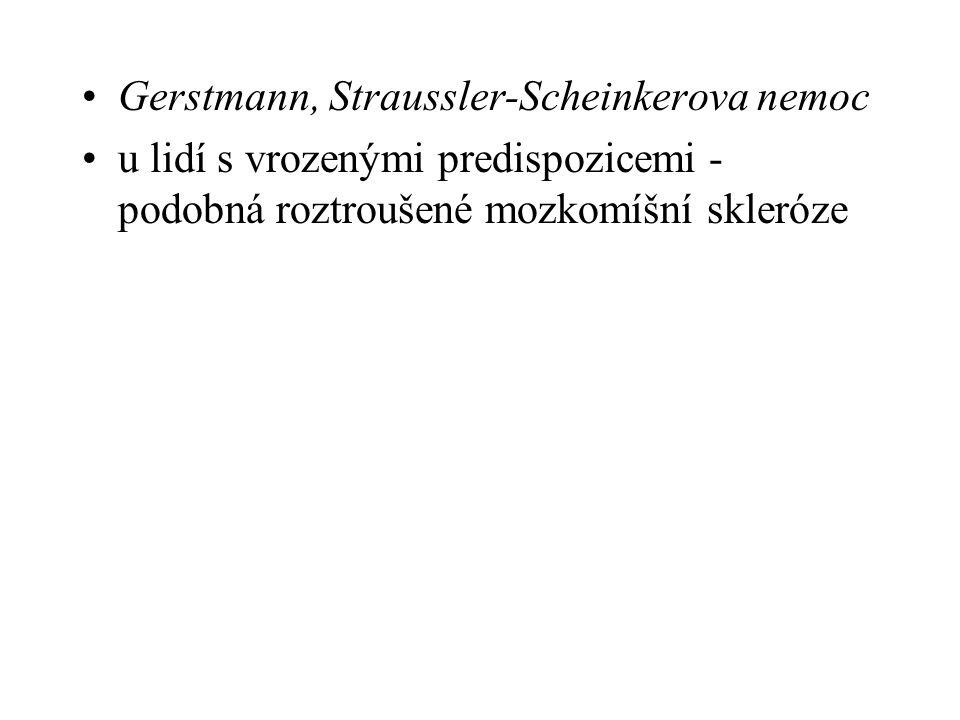 Gerstmann, Straussler-Scheinkerova nemoc