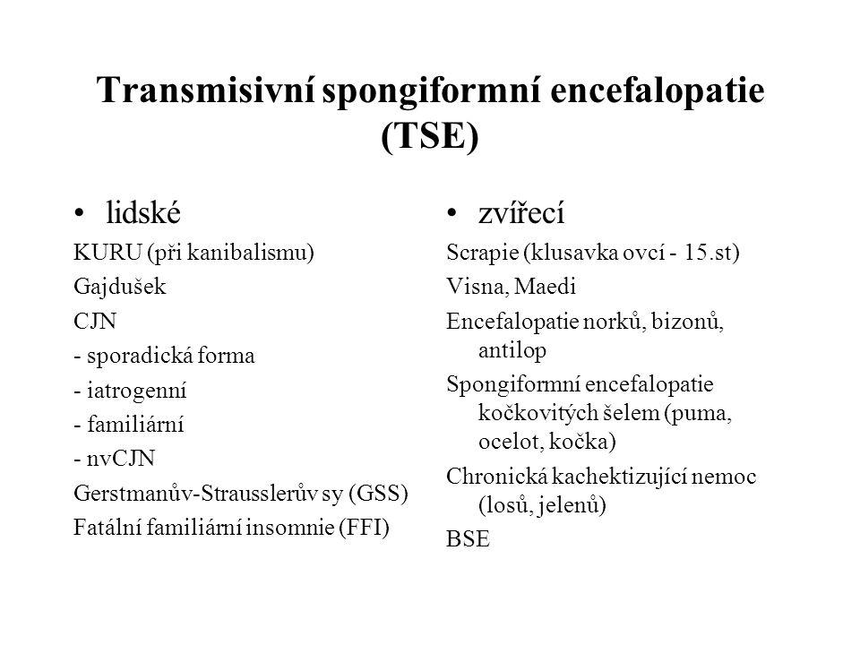 Transmisivní spongiformní encefalopatie (TSE)