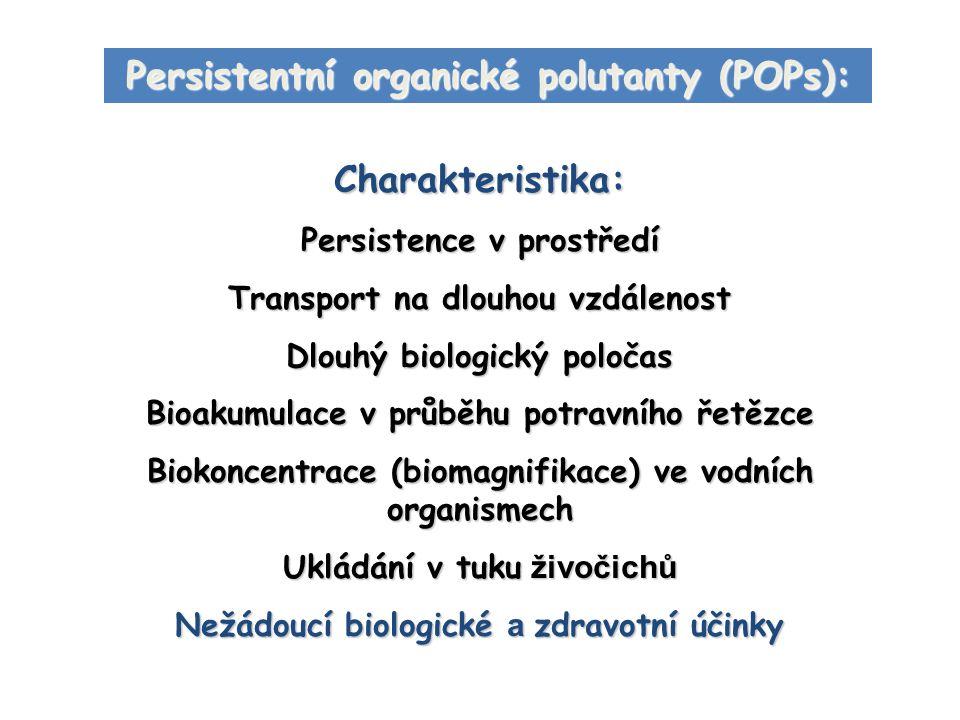 Persistentní organické polutanty (POPs): Charakteristika: