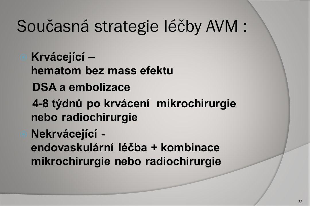 Současná strategie léčby AVM :