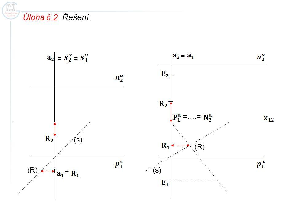 Úloha č.2 Řešení. = = = =….= (s) (R) (R) (s) =