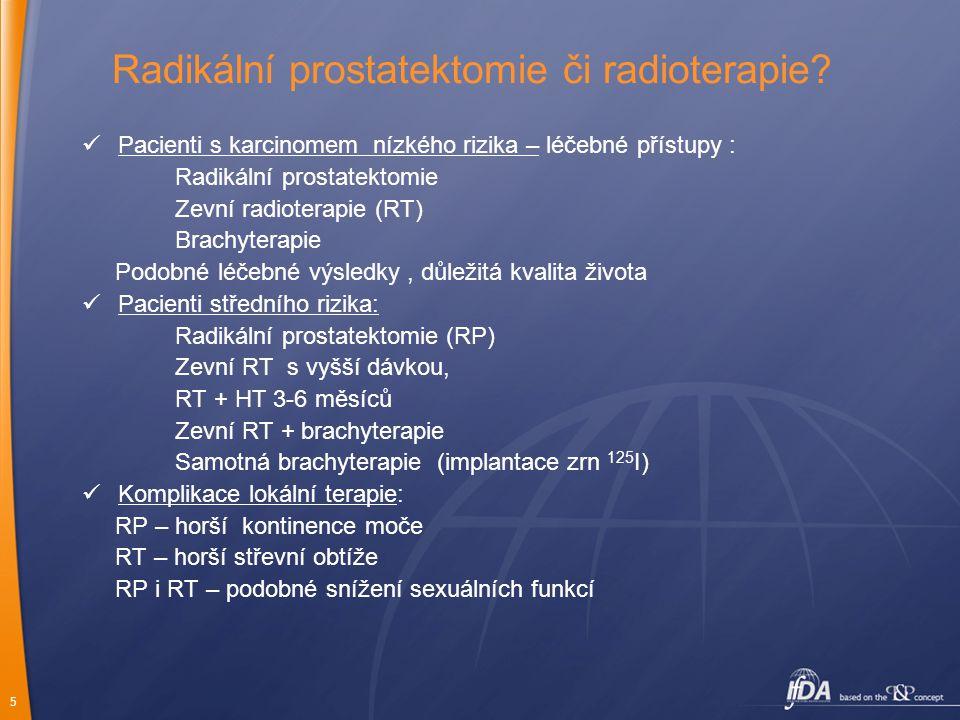 Radikální prostatektomie či radioterapie