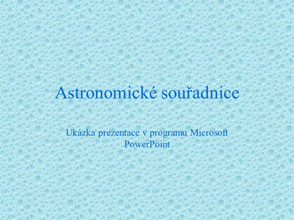 Astronomické souřadnice