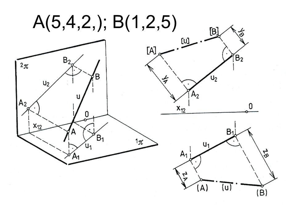 A(5,4,2,); B(1,2,5)
