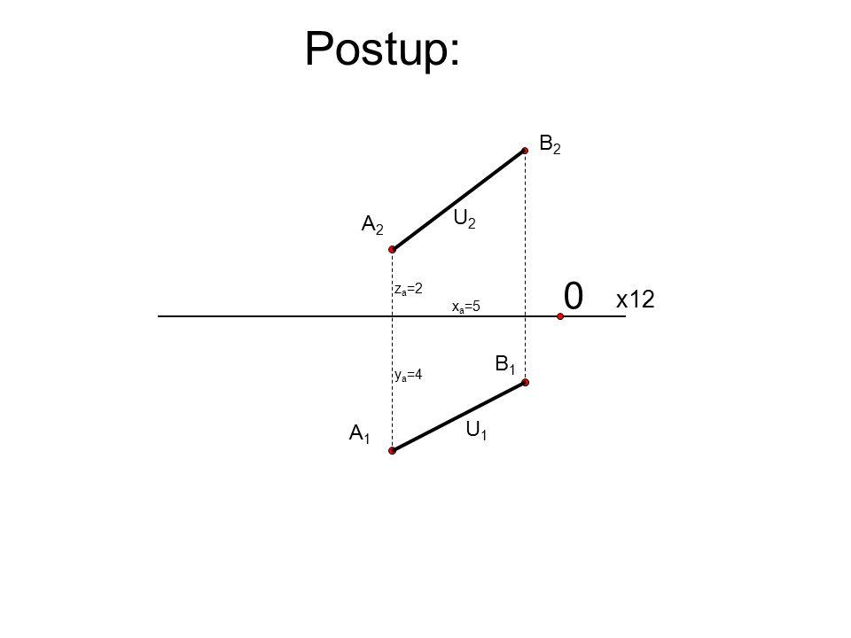 Postup: B2 U2 A2 za=2 x12 xa=5 B1 ya=4 A1 U1